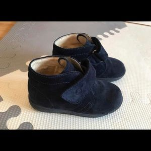 Falcotto Navy Suede Booties